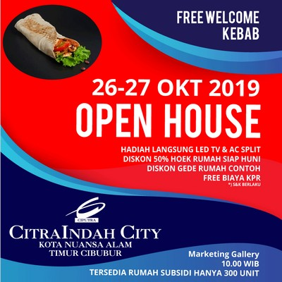 open house citra indah city