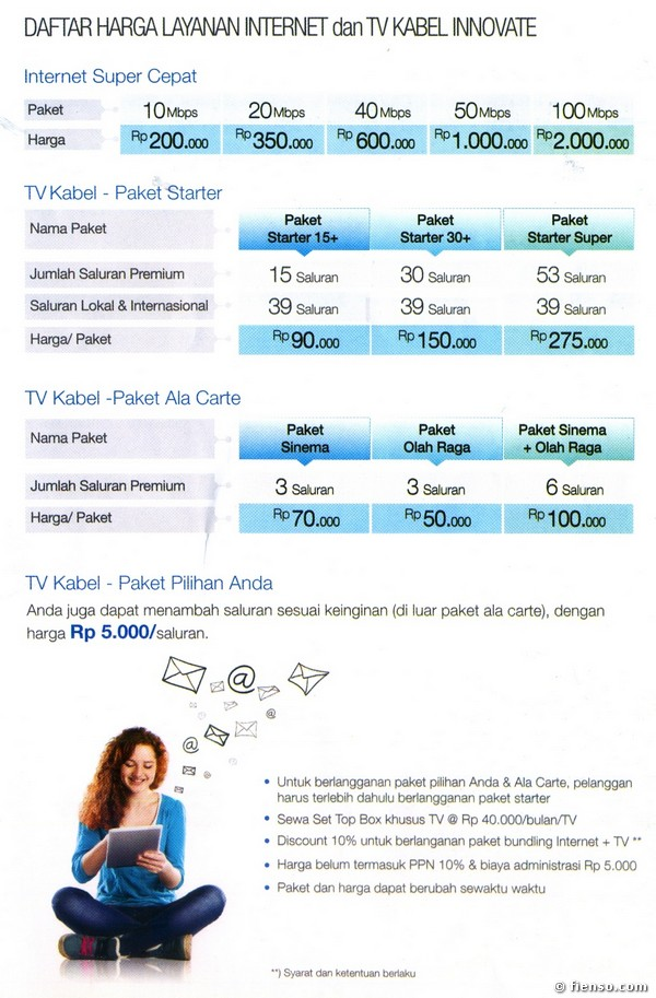 internet broadband tv kabel telepon citra indah